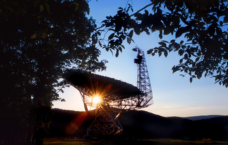 Robert C Byrd telescope at the National Radio Astronomy Observatory in Greenbank, Pocahontas Co, WV