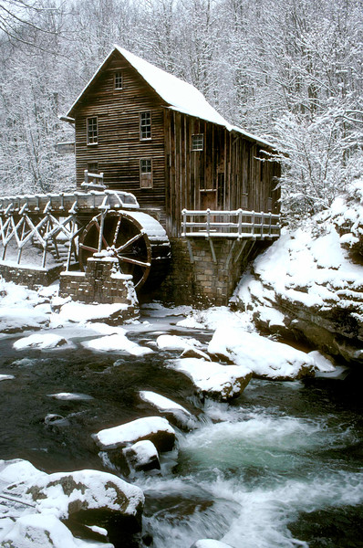 Glade Creek Grist Mill at Babcock State Park, Fayette Co, WV.