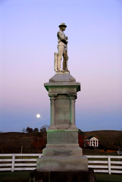 Confederate memorial statue located in Union, Monroe Co, WV