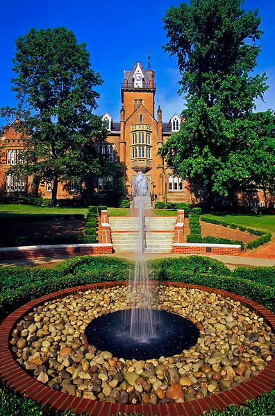 Fountain & Old Main, Bethany College in Bethany, WV.