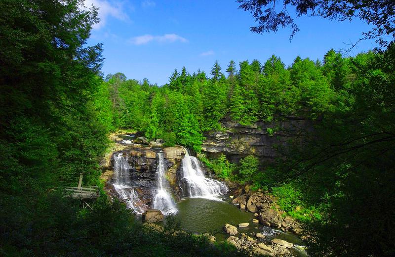 Beautiful Blackwater Falls in Blackwater Falls State Park, Tucker Co, WV.