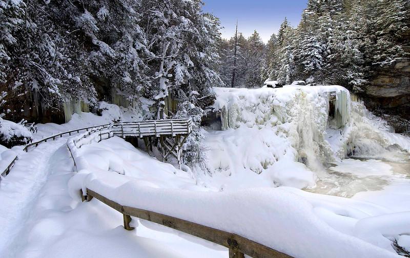 Winter at Blackwater Falls in Blackwater Falls State Park, Tucker Co, WV.