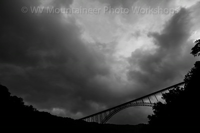 Storm - New River Gorge Bridge - Fayetteville West Virginia