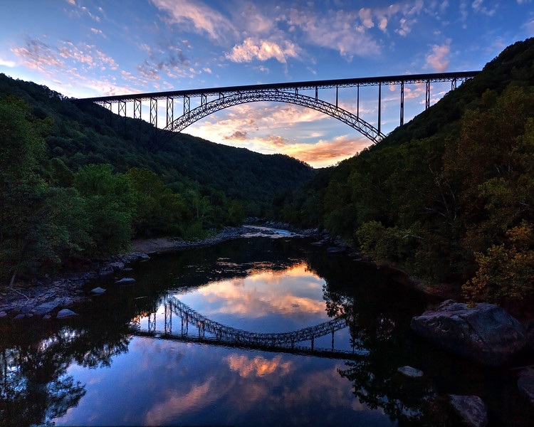 New River Gorge Bridge at Dusk