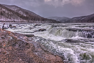 Sandstone Falls in Winter
