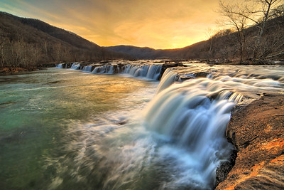 Sandstone Falls Sunset
