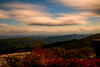 Mountain range and moving clouds