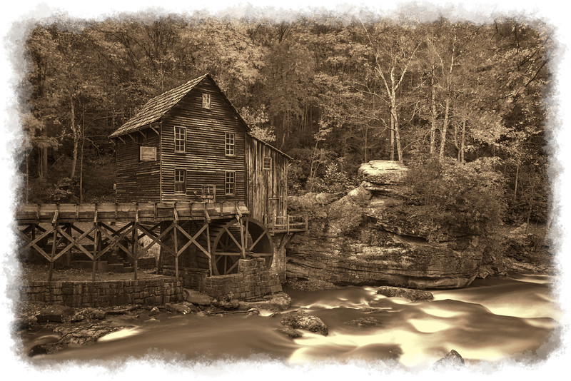 """Sepia of Grist Mill.......................to purchase - <a href=""""http://bit.ly/10O7HOi"""">http://bit.ly/10O7HOi</a>"""