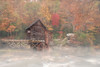 "Grist Mill in morning in the fall..........................................to purchase - <a href=""http://bit.ly/1oAqt6x"">http://bit.ly/1oAqt6x</a>"