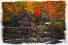 "Grist Mill at Babcock State Park watercolor borders paintography.......................................to purchase - <a href=""http://bit.ly/1st3zub"">http://bit.ly/1st3zub</a>"