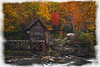 "Grist Mill Babcock State Park textured with watercolor borders....................................to purchase = <a href=""http://bit.ly/1AMEL9U"">http://bit.ly/1AMEL9U</a>"