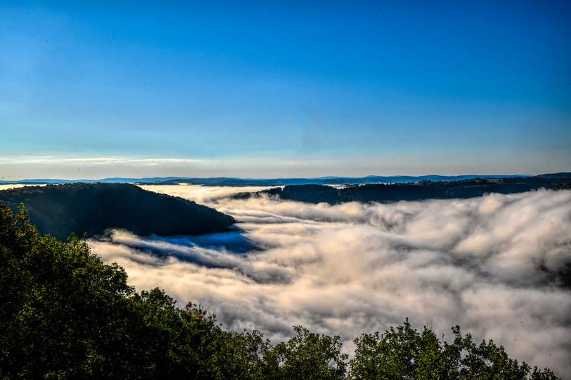 Coopers Rock valley fog