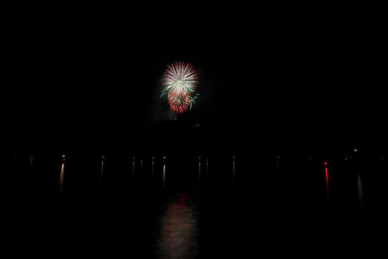 Fireworks at Cheat Lake