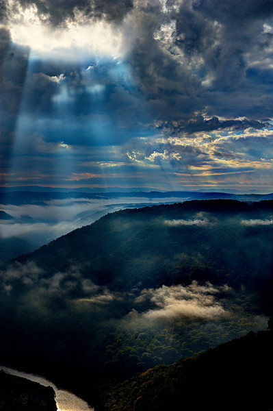 Light shing on cloud in valley ...........................................Prints or digital files can be purchased by e mailing DFriend150@gmail.com