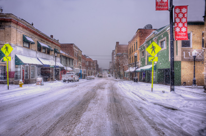 """Snow covered high street Morgantown West Virginia ..............................to purchase - <a href=""""http://bit.ly/1wWHYNi"""">http://bit.ly/1wWHYNi</a>"""