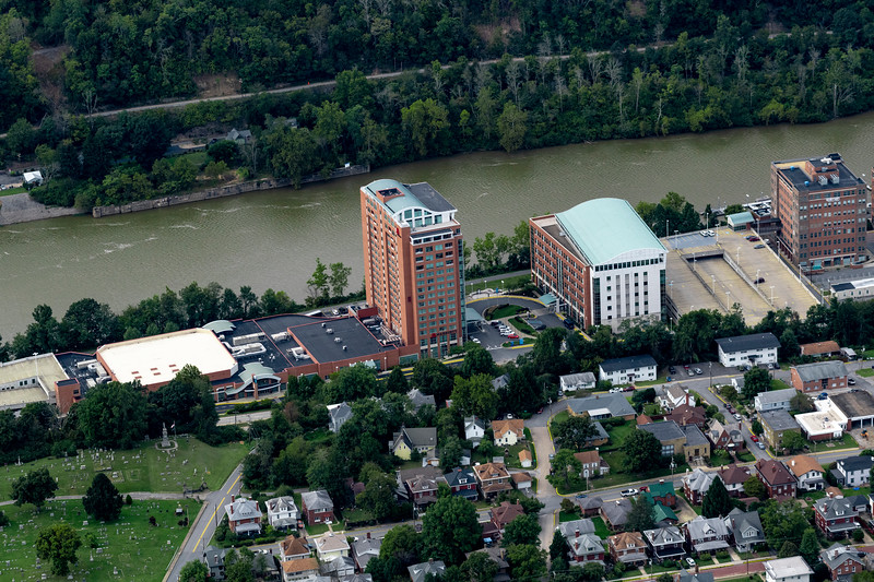 Aerial of Waterfront area