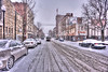 """Snow covered high street and cars in Morgantown..................to purchase  <a href=""""http://dan-friend.artistwebsites.com/featured/snow-covered-high-street-and-cars-in-morgantown-dan-friend.html?newartwork=true"""">http://dan-friend.artistwebsites.com/featured/snow-covered-high-street-and-cars-in-morgantown-dan-friend.html?newartwork=true</a>"""