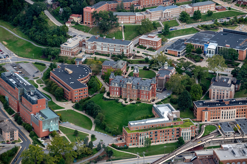 Aerial of Woodburn Hall downtown campus area