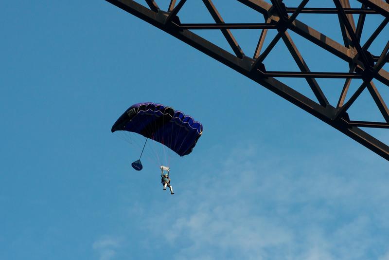 Crystal Lewis Diaz Bridge Day 2016 BASE jumper New River Gorge