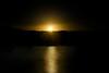 Yellow sunrise at Spruce Knob Lake