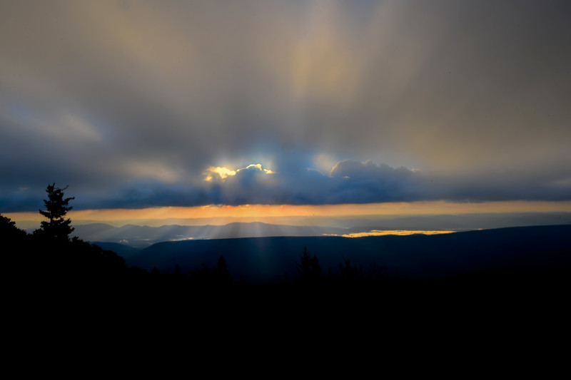 Big sky in the morning in the mountains 6