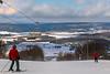 Skier on top on mountain