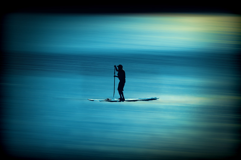 Lone person on water