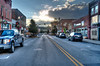 Main street with sun setting Buckhannon WV..........................................to purchase e mail DFriend150@gmail.com