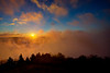 "Morning sky with fog at Bald Knob Mountain........................to purchase - <a href=""http://bit.ly/1tYBi35"">http://bit.ly/1tYBi35</a>"