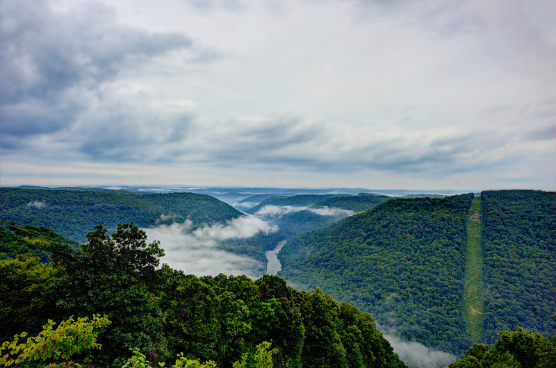 View from Raven Rock of Cheat River valley .                                                   Prints or digital files can be purchased by e mailing DFriend150@gmail.com