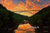 "Sunset New River Gorge<br /> <br /> Framed, metal, canvas order at this website - <a href=""http://fineartamerica.com/featured/sunset-new-river-gorge-dan-friend.html"">http://fineartamerica.com/featured/sunset-new-river-gorge-dan-friend.html</a>                                                             .............................................pixel paintography"