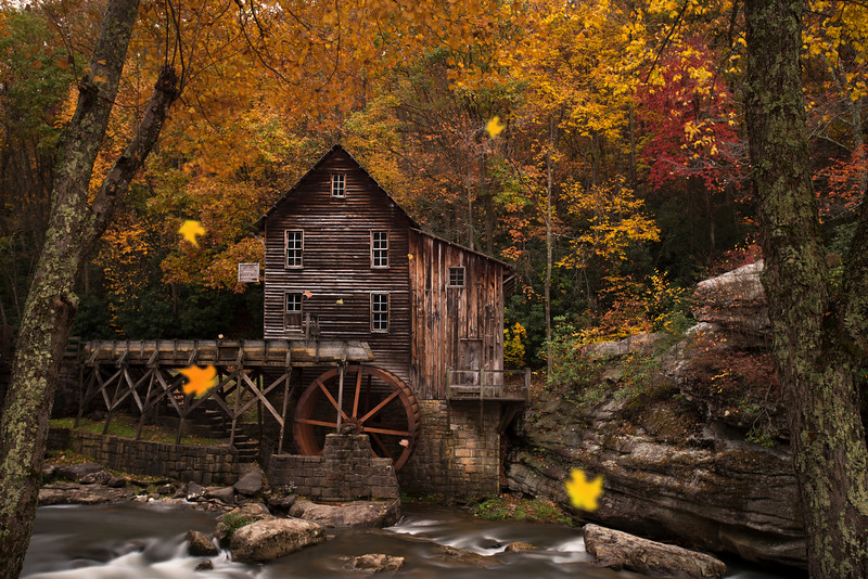 """Leaves falling at Grist Mill.......................................to purchase - <a href=""""http://bit.ly/1tw7i9R"""">http://bit.ly/1tw7i9R</a>"""