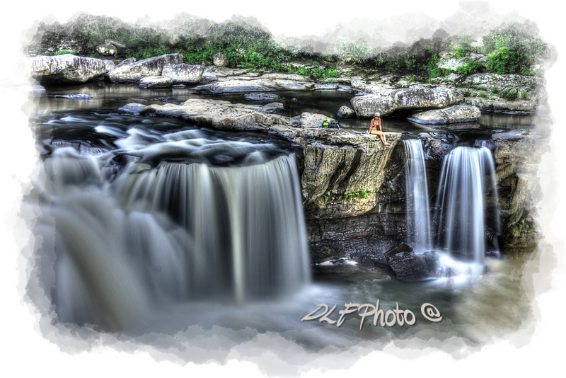 """Girl on rock at falls<br /> <br /> to purchase - <a href=""""http://dan-friend.artistwebsites.com/featured/girl-on-rock-at-falls-dan-friend.html?newartwork=true"""">http://dan-friend.artistwebsites.com/featured/girl-on-rock-at-falls-dan-friend.html?newartwork=true</a>                                                             .............................................pixel paintography"""