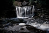 Water falling at Elakala Falls