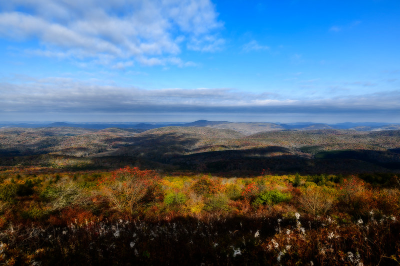 View from top of West Virginia mountain