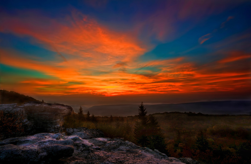 Sunrise at Bear Rocks in Dolly Sods ...........................................Prints or digital files can be purchased by e mailing DFriend150@gmail.com