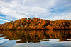 Colorful reflection on hill in the fall