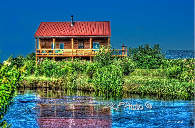 """Cabin On Little Blackwater River<br /> <br /> Framed, metal, canvas order at this website - <a href=""""http://fineartamerica.com/featured/cabin-on-little-blackwater-river-dan-friend.html"""">http://fineartamerica.com/featured/cabin-on-little-blackwater-river-dan-friend.html</a>                                                             .............................................pixel paintography"""