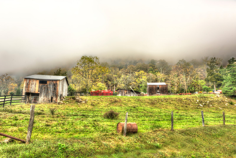 Smalll West Virginia farm coming out of clouds ...........................................Prints or digital files can be purchased by e mailing DFriend150@gmail.com