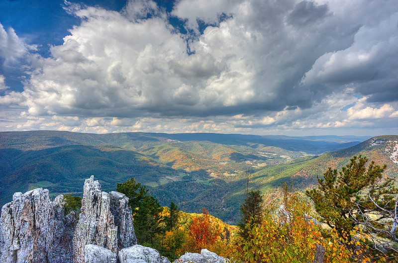 Landscape view from Chimney rock on North Fork Mountain ...........................................Prints or digital files can be purchased by e mailing DFriend150@gmail.com