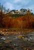 Fall scene with stream and Seneca Rocks
