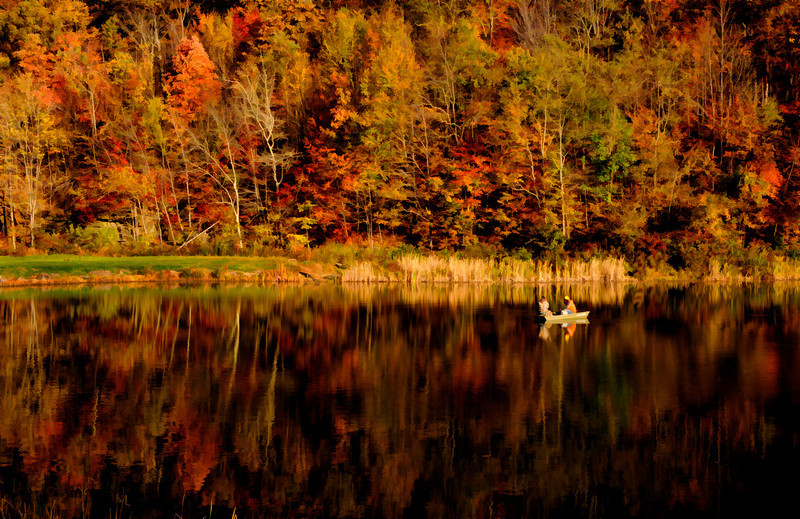 """Fall fishing on pond<br /> <br /> to purchase - <a href=""""http://dan-friend.artistwebsites.com/featured/fall-fishing-on-pond-dan-friend.html"""">http://dan-friend.artistwebsites.com/featured/fall-fishing-on-pond-dan-friend.html</a>                                                             .............................................pixel paintography"""