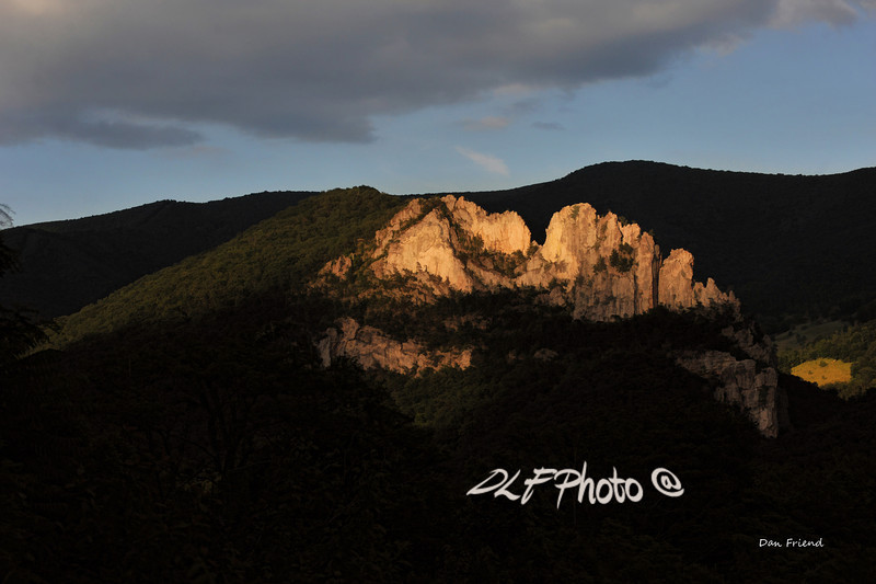 """Evening Sunset At Seneca Rocks<br /> <br /> Framed, metal, canvas order at this website - <a href=""""http://bit.ly/1uMp8YB"""">http://bit.ly/1uMp8YB</a>                                                            .............................................pixel paintography"""