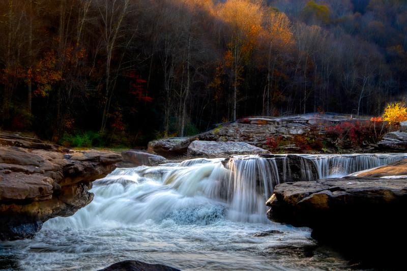 Waterfall in the fall