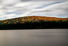 Spruce Knob Lake in the Fall moving clouds and water