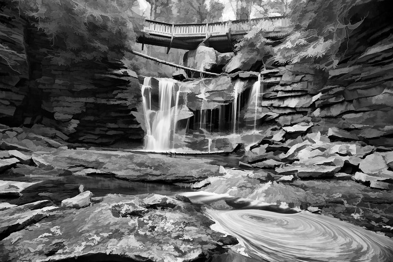 """Elakala Falls on the Elakala Trail at Blackwater Falls State Park in Davis West Virginia<br /> <br /> to purchase - <a href=""""http://dan-friend.artistwebsites.com/featured/elakala-falls-on-the-elakala-trail-at-blackwater-falls-dan-friend.html?newartwork=true"""">http://dan-friend.artistwebsites.com/featured/elakala-falls-on-the-elakala-trail-at-blackwater-falls-dan-friend.html?newartwork=true</a>                                                             .............................................pixel paintography"""