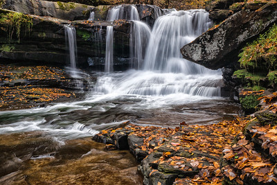 Dunloup Falls in the Fall