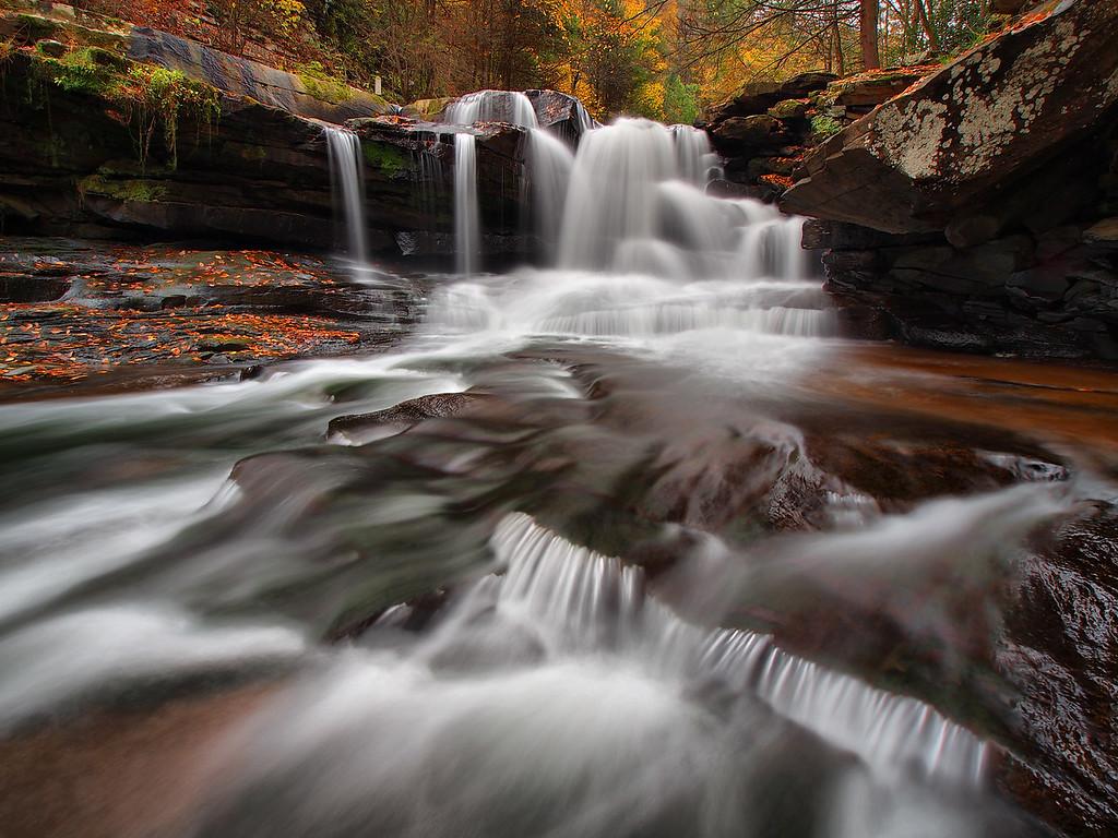 Dunloup Creek Falls - 1