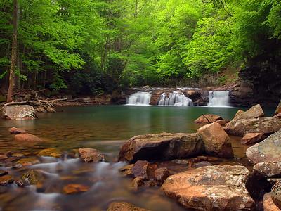 Lower Falls On Glade Creek - 3
