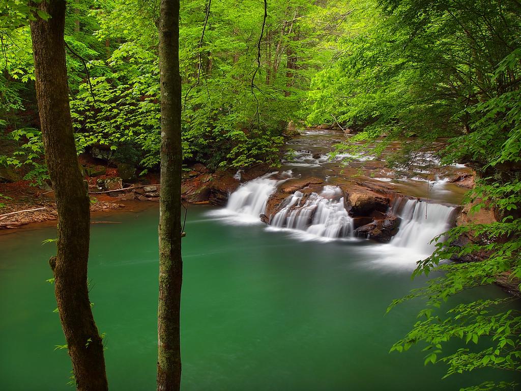 Lower Falls On Glade Creek - 1
